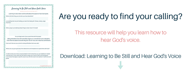 Learn to Be Still and Hear God's Voice