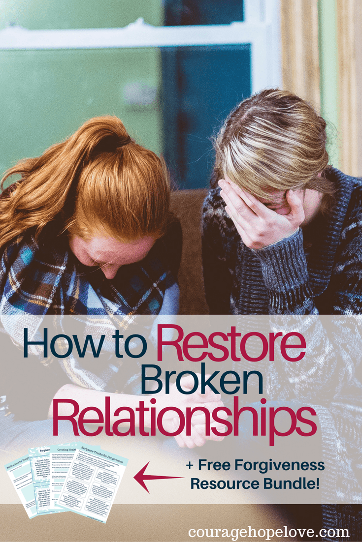 How To Restore Broken Relationships