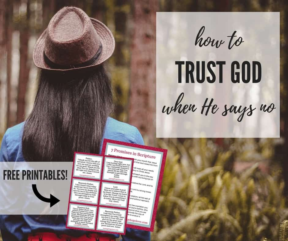How to Trust God When He Says No