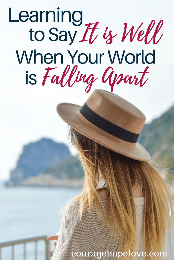 Learning to Say It is Well When Your World is Falling Apart