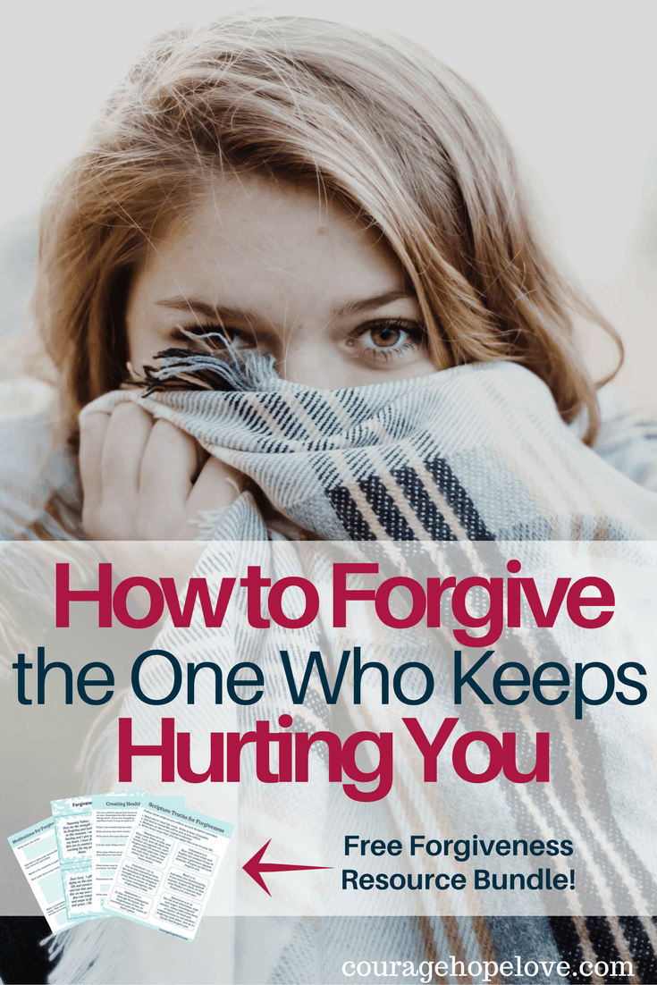 Learning how to forgive can be so hard. It's hard enough to forgive someone who has wounded you in some way, but what about the one who keeps hurting you?