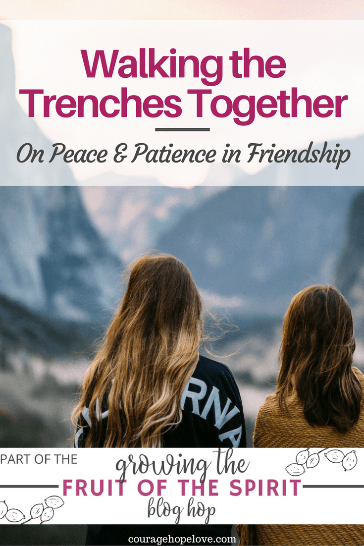 Peace and Patience in Friendship