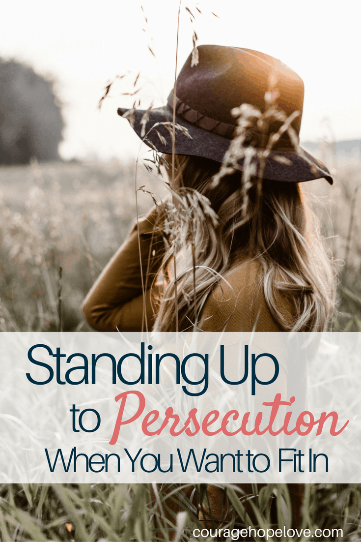 standing up to persecution