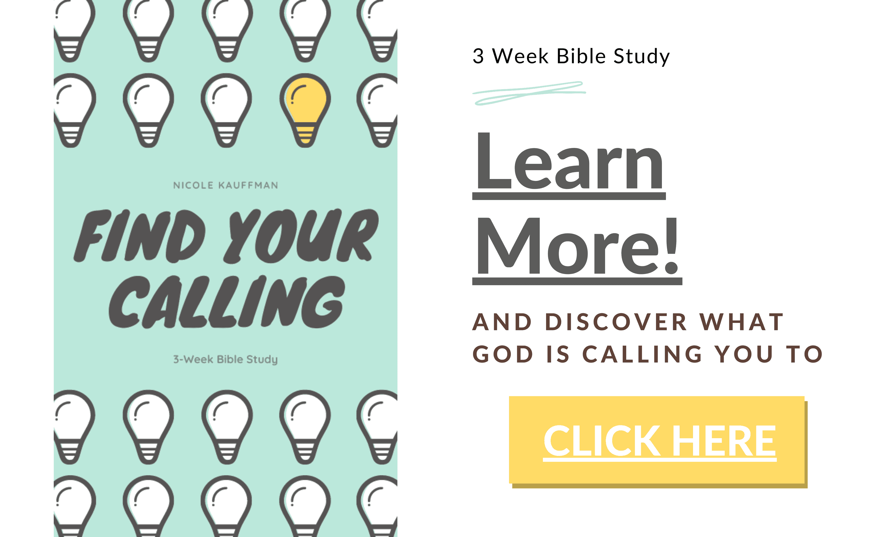 Find Your Calling Study Available